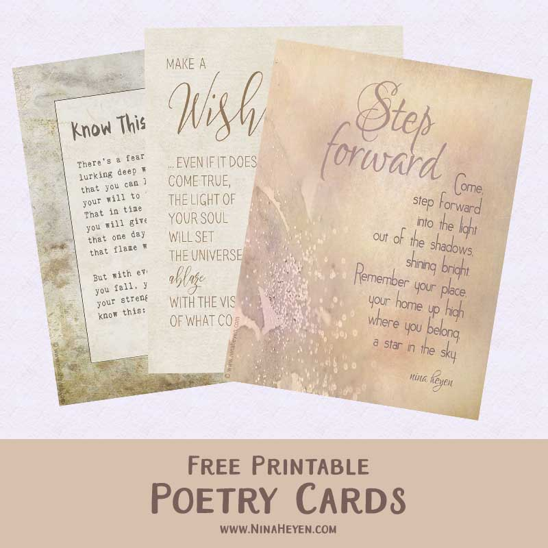 Free poetry cards to print & share