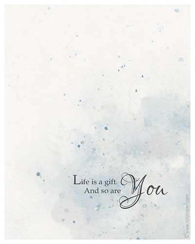 Life Is A Gift Notecard