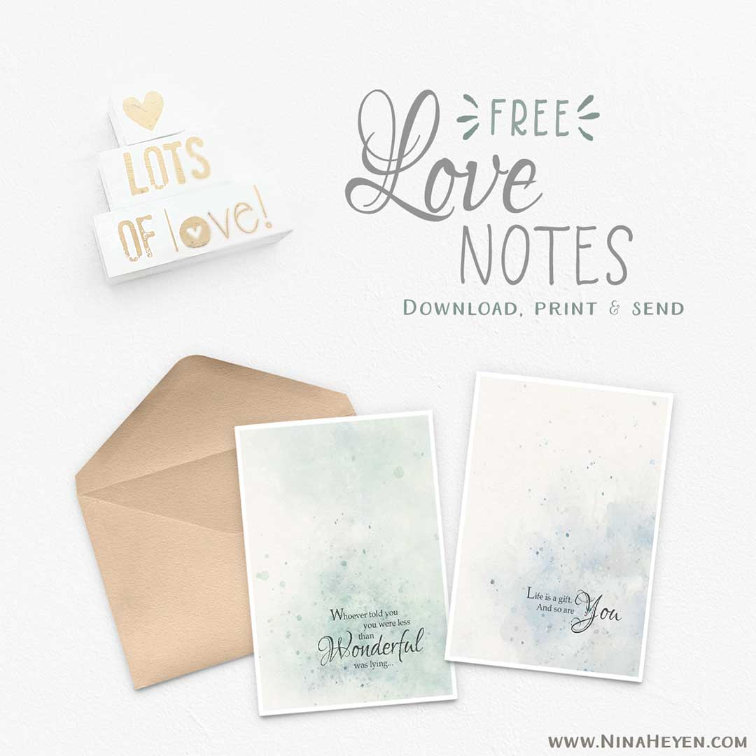 Free Printable Love Note Cards