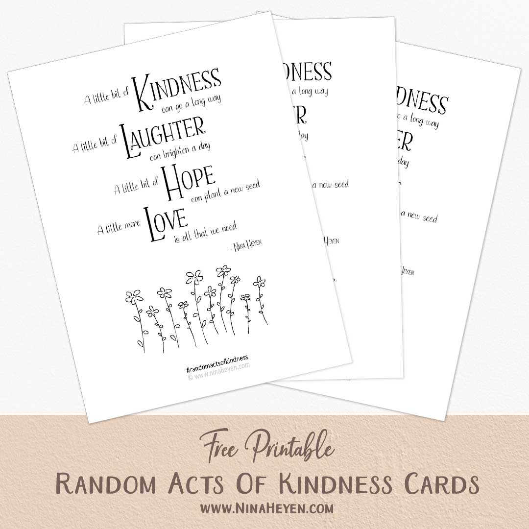 Free printable random acts of kindness cards