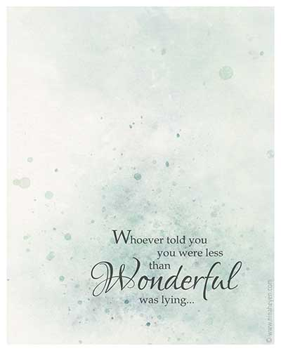 Wonderful You Note Card